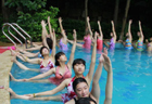 Water yoga keeps people from summer-heat in China