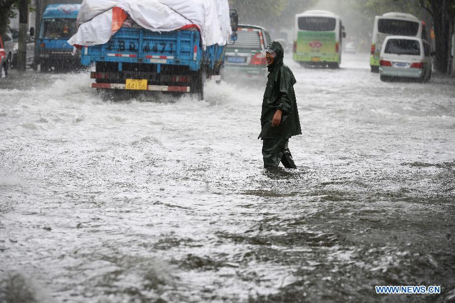 Typhoon Fitow brings torrential rainfalls to Shang