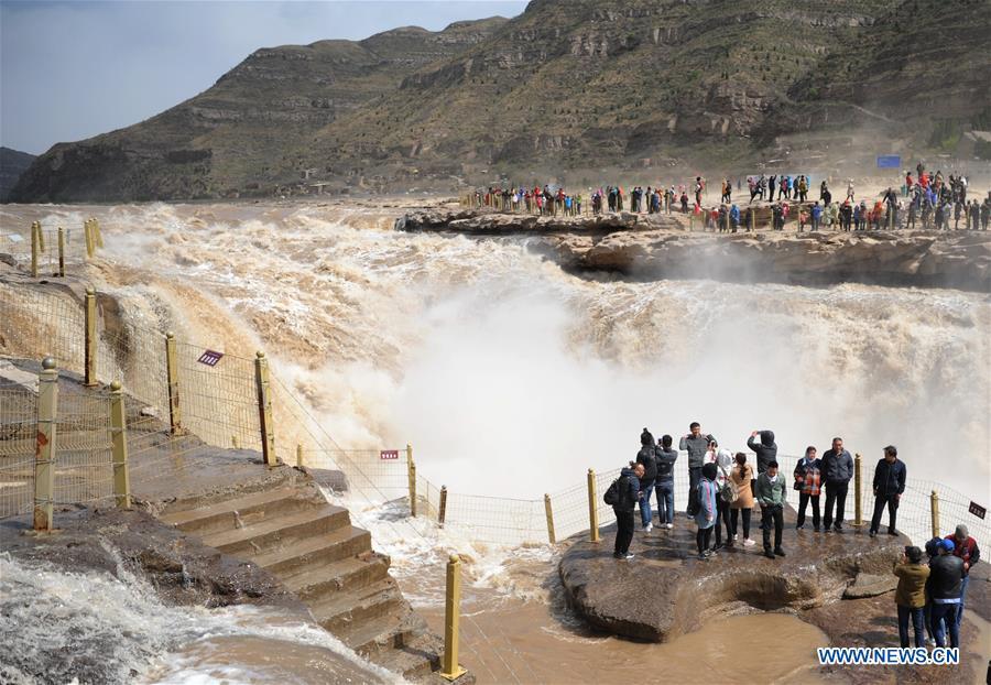 CHINA-SHAANXI-HUKOU WATERFALL-FLOOD (CN)