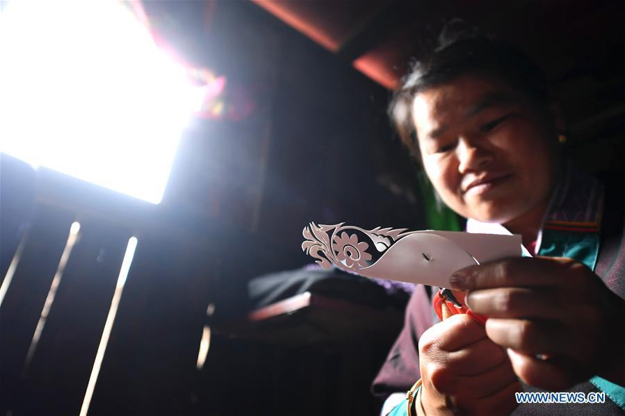 #CHINA-GUANGXI-EMBROIDERY-DEAF MUTE ARTIST (CN)
