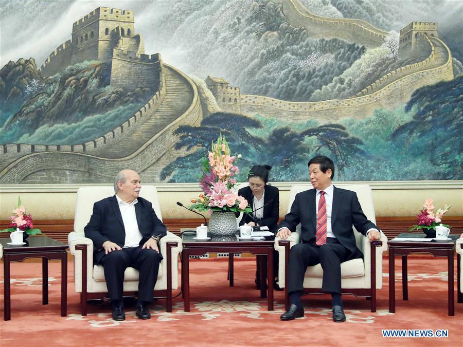 CHINA-BEIJING-LI ZHANSHU-GREECE-NIKOLAOS VOUTSIS-MEETING (CN)