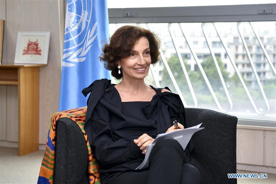 FRANCE-PARIS-UNESCO-AUDREY AZOULAY-INTERVIEW