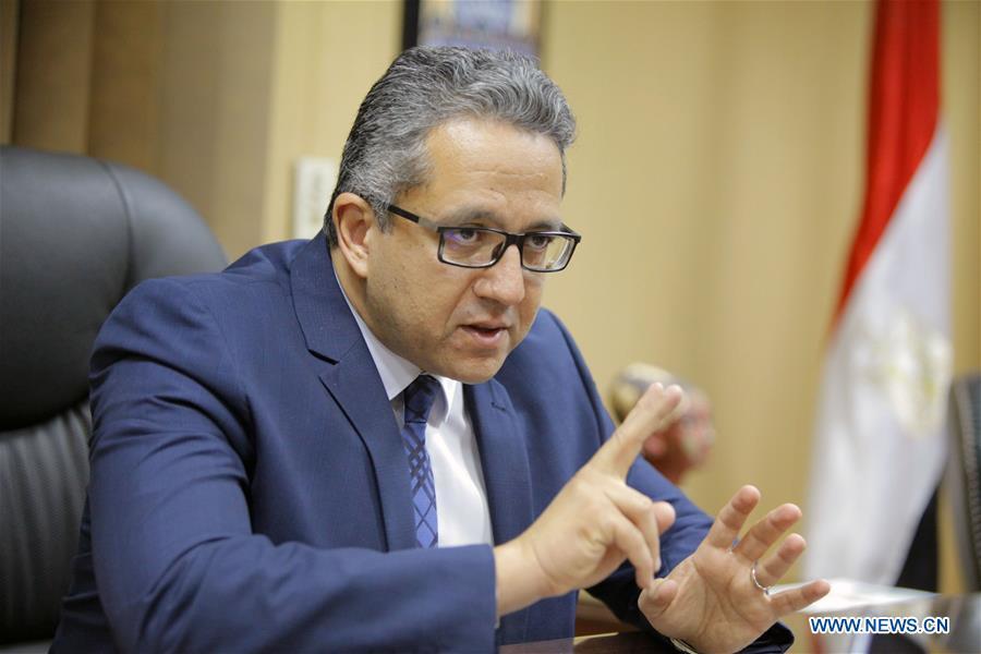EGYPT-CAIRO-ANTIQUITIES MINISTER-INTERVIEW