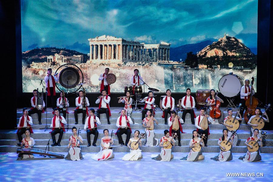 GREECE-PIRAEUS-CHINA-CONCERT-DIPLOMATIC RELATIONS-ANNIVERSARY-CELEBRATION