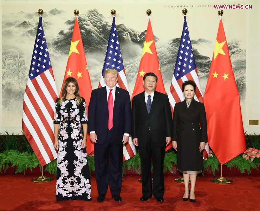 CHINA-BEIJING-XI JINPING-TRUMP-WELCOME CEREMONY (CN)