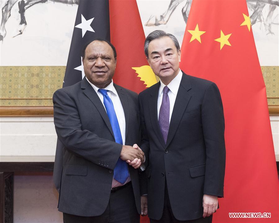 CHINA-BEIJING-WANG YI-PAPUA NEW GUINEAN FM-MEETING (CN)