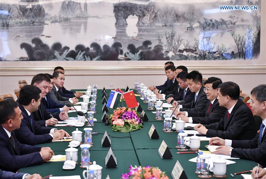 CHINA-BEIJING-ZHAO KEZHI-UZBEKISTAN-MINISTER OF INTERNAL AFFAIRS-TALKS (CN)