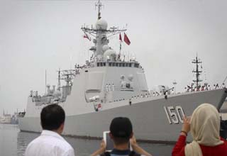 Chinese naval fleet arrives in Iran for visit