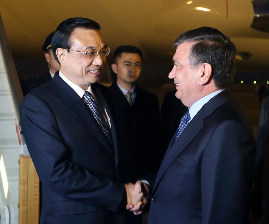 Chinese premier arrives in Uzbekistan for SCO meet