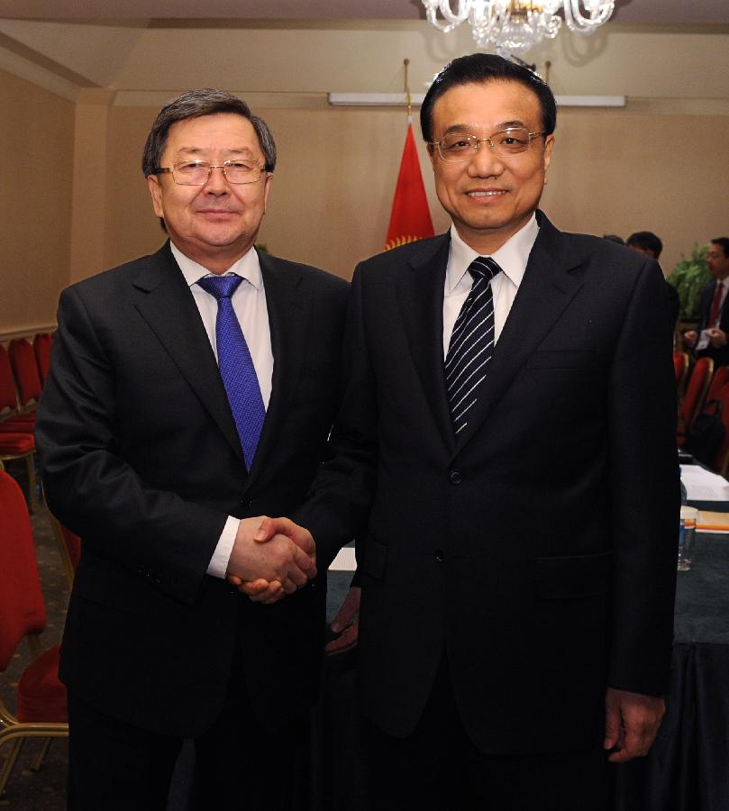Chinese premier meets Kyrgyz, Kazakh, Tajik PMs
