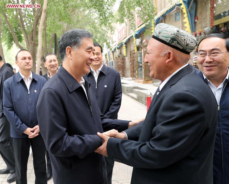 CHINA-XINJIANG-WANG YANG-INSPECTION(CN)