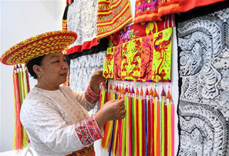 Intangible cultural heritage exhibition held in Hohhot, N China