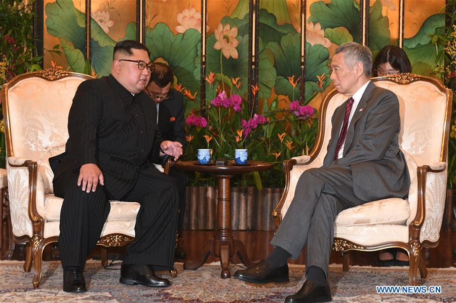 SINGAPORE-DPRK-KIM JONG UN-LEE HSIEN LOONG-MEETING