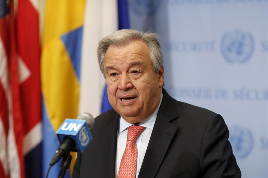 UN-ANTONIO GUTERRES-PRESS ENCOUNTER-DPRK-U.S.-SUMMIT