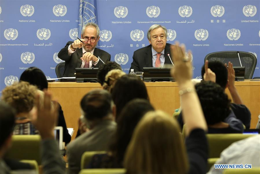 UN-ANTONIO GUTERRES-PRESS CONFERENCE