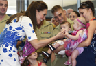 William, Kate visit Australian air force base