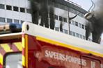 Public radio building in Paris on fire