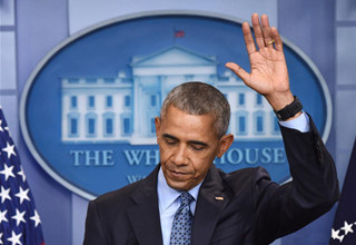 Obama attends final press conference as U.S. President at White House