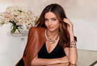 Miranda Kerr poses for Swarovski 2014 autumn, winter series ad
