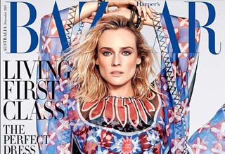 Actress Diane Kruger graces Harper Bazaar magazine