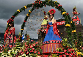 Grand parade held during Flower Festival in Portugal