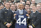 Obama presents Commander-in-Chief Trophy to Naval Academy Football Team