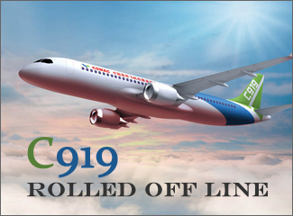 C919 Rolled off Line