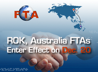 ROK, Australia FTAs Enter Effect on Dec. 20