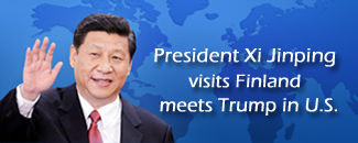 Chinese president visits Finland, meets Trump in U.S.