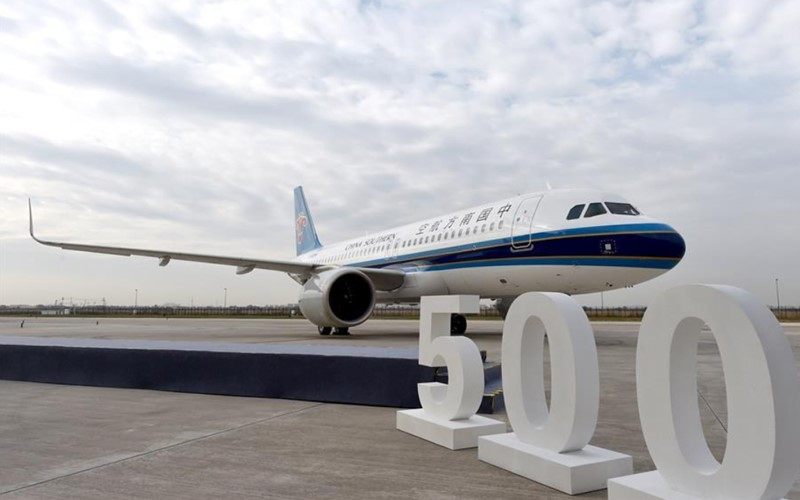 Airbus delivers 500th A320 family aircraft assembled in China