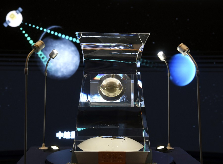 Lunar samples on display at China's national museum