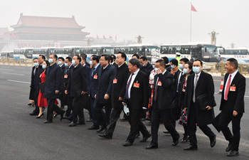NPC deputies arrive for opening meeting of fourth session of 13th NPC