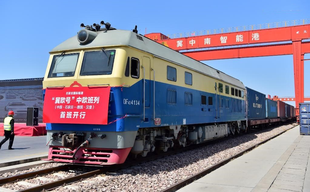1st China-Europe freight train bound for Germany from Hebei departs