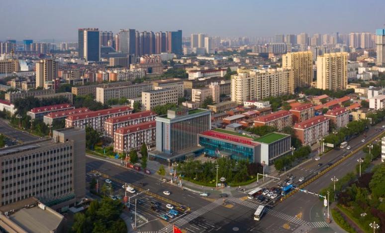 Aerial view of Tangshan City