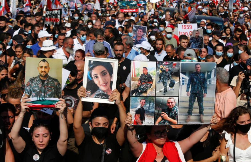 Lebanon breaks out mass protests amid 1st anniv. of Beirut blasts