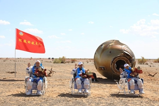 Chinese astronauts return with first mission for space station construction accomplished