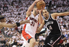 NBA Playoffs: Brooklyn Nets beat Toronto Raptors 94-87