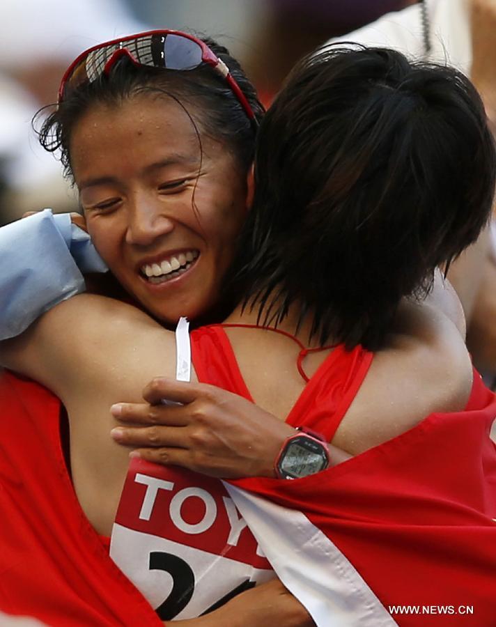 Liu Hong takes bronze of women's 20km race walk