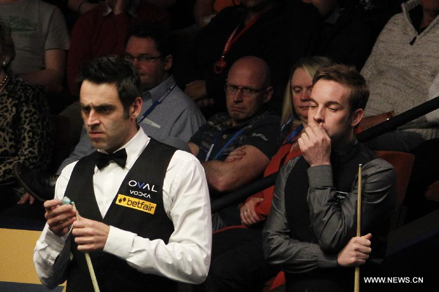O'Sullivan against Carter at World Snooker Championship