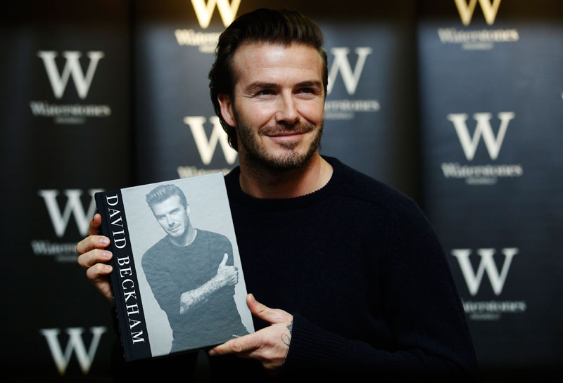 David Beckham attends book signing in London