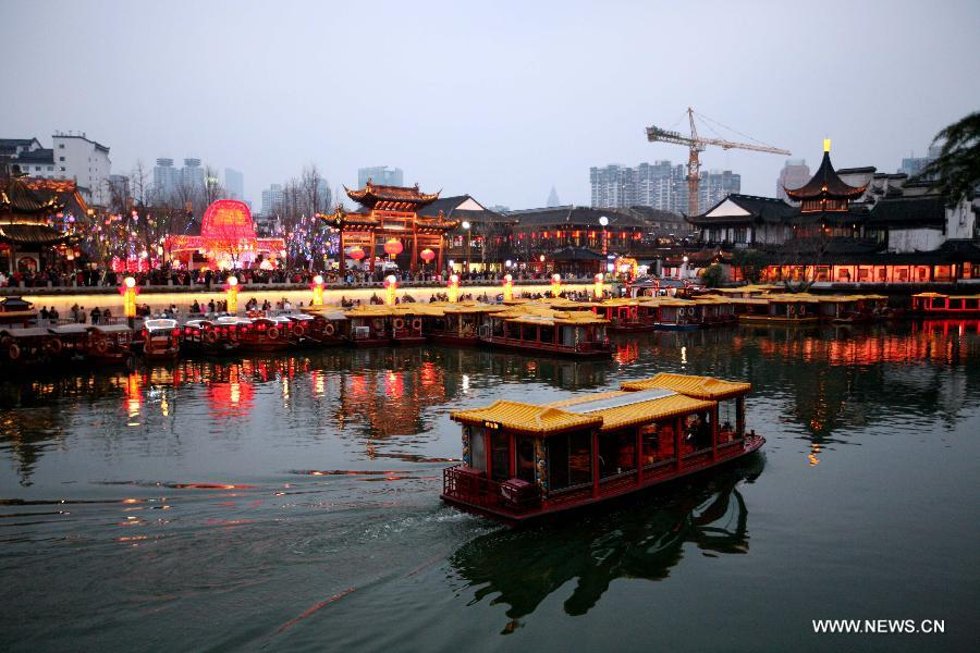 People tour at Confucius Temple in Nanjing --China ...