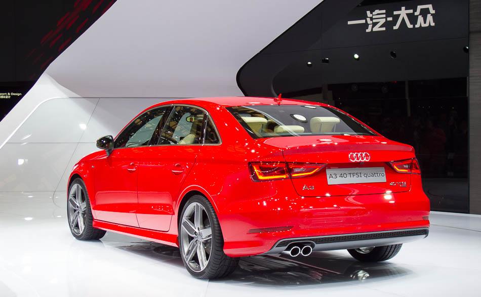 Audi A3 Sedan World Premiere At Shanghai Auto Show 2013