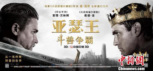 《亚瑟王:斗兽争霸》将公映贝克汉姆首登中国大荧幕