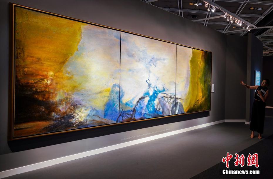 赵无极大型油画《三联作 1987-1988》即将上拍 估价1.5亿港元
