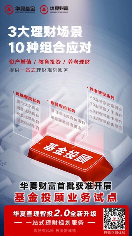 业内首个场景化基金投顾 华夏财富基金投顾服务上线