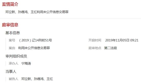 中郵基金原投資總監老鼠倉成交35億 庭審畫面曝光(圖)