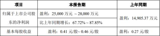 奥佳华:上半年净利润预计同比增长68%