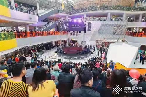 武汉绿地中心商业——绿地缤纷城开业火爆:首月客流200万人次、销售金额7500万元