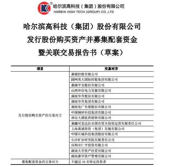 """又一家券商曲线""""上市""""!哈高科拟106亿收购湘财证券"""