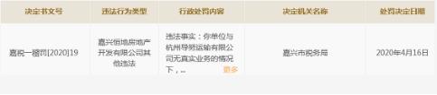 嘉兴恒地虚开发票构成偷税被罚1998.50元 为金地集团全资子公司